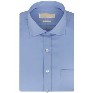 Michael Kors Mens Non-Iron Twill Dress Shirt